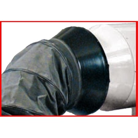 MTM Heat 48.7109 12 in. One Way Duct Adapter for Blaze100, Black