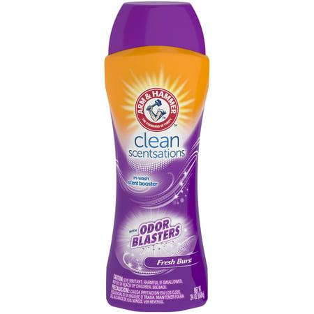(3 pack) Arm & Hammer Clean Scentsations Odor Blasters In-Wash Scent Booster - Fresh Burst, 24 oz
