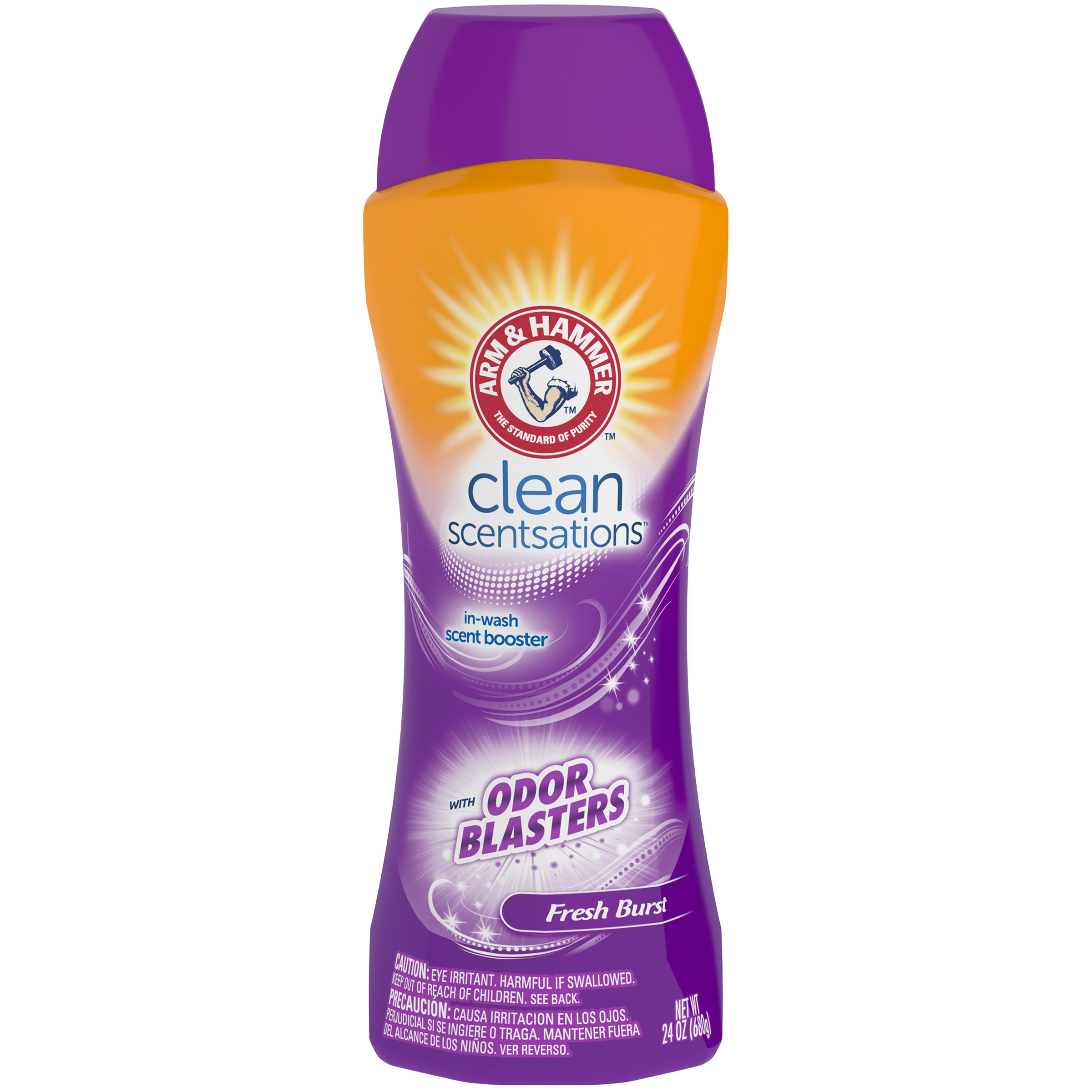 (3 pack) Arm & Hammer Clean Scentsations Odor Blasters In-Wash Scent Booster - Fresh Burst, 24 oz