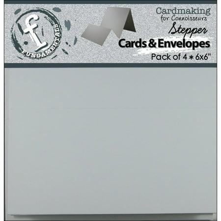 Fundamentals Stepper Square Cartes et Enveloppes 6''X6 '' 4 / Emballage-Accord-on Blanc - image 1 de 1