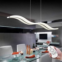 Wedlies LED Pendant Light Modern Wave Design Ceiling Light Chandelier Fixture Minimalist Art Acrylic Lamp Living Room Dining Room Office Home Decor