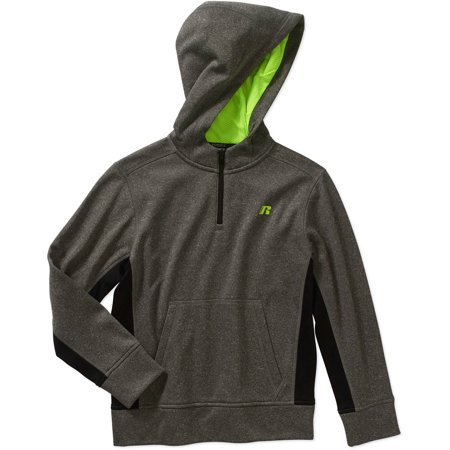 Russell Rs Boys Qtr Zip Tech Fleece Hood - Walmart.com