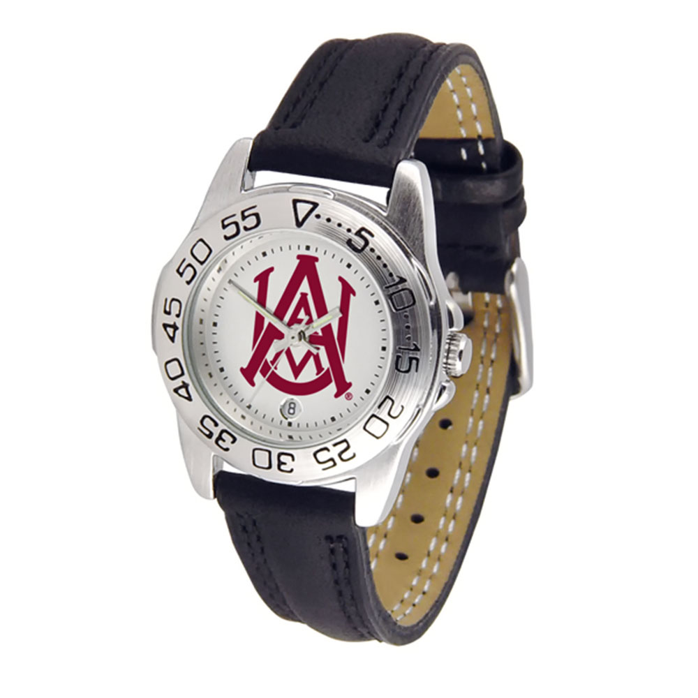 "Alabama A&M Bulldogs NCAA ""Sport"" Women's Watch (Leather Band)"