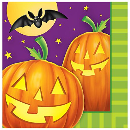 Pumpkin Shine 16 Luncheon Napkins Halloween Party Bats - Bat Pumpkin Halloween