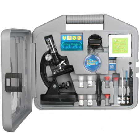 AmScope AMSCOPE-KIDS 120X-240X-300X-480X-600X-1200X Metal Arm Kids Compound Biological Microscope Kit New - Kids Microscope