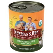 Newman`s Own Organics Liver Canned Dog Food 12?Oz, 12 Ct
