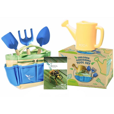 Kids Gardening Tools with STEM Early Learning Guide by ROCA. Gardening Tools Toys, Outdoor Toys and Learning Toys.