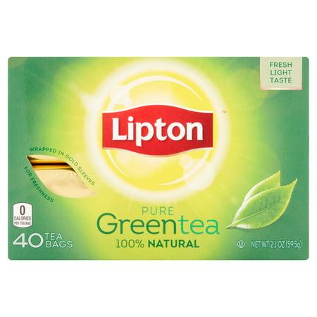 Lipton Sachets de thé vert naturel, 40 ct