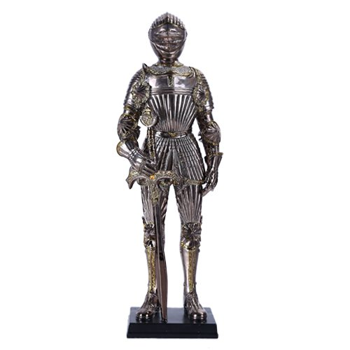 "Pacific 13"" Tall Medieval Knight with Sword Statue Figuri..."