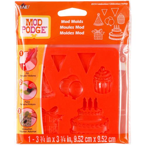 Mod Podge Mod Mold 3.75inX3.75in-Celebration