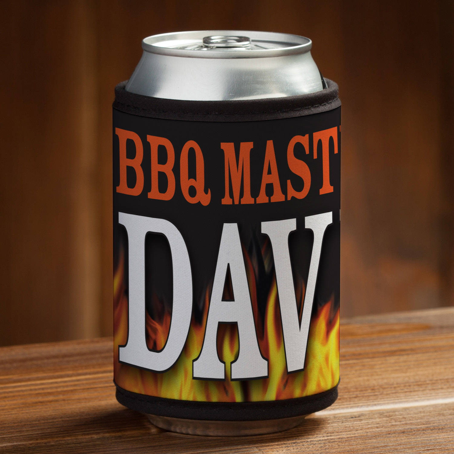 Personalized BBQ Master Can and Bottle Wrap