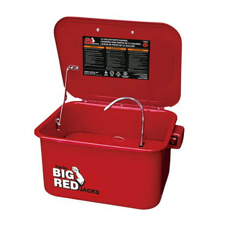 Torin Big Red 3.5 Gallon Steel Cabinet Parts Portable Washer with Electric Pump