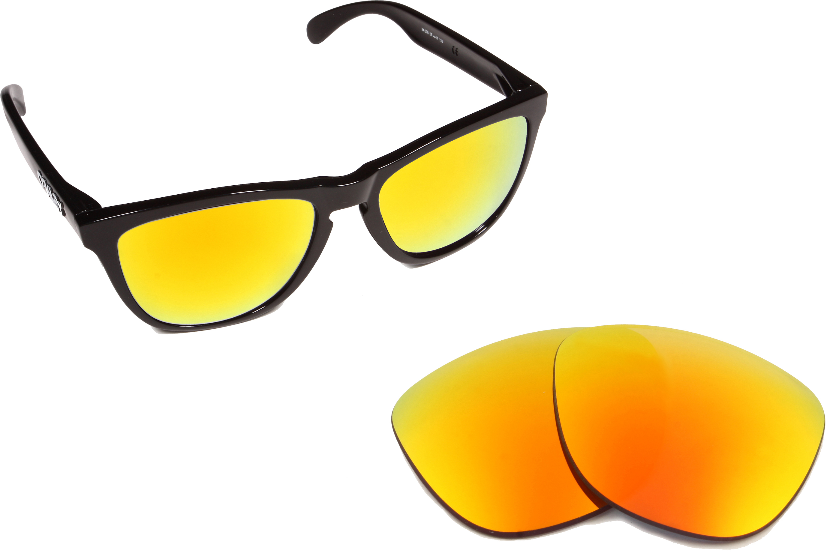 d2b8ccbab4c63 Frogskins Replacement Lenses Yellow Mirror by SEEK fits OAKLEY Sunglasses
