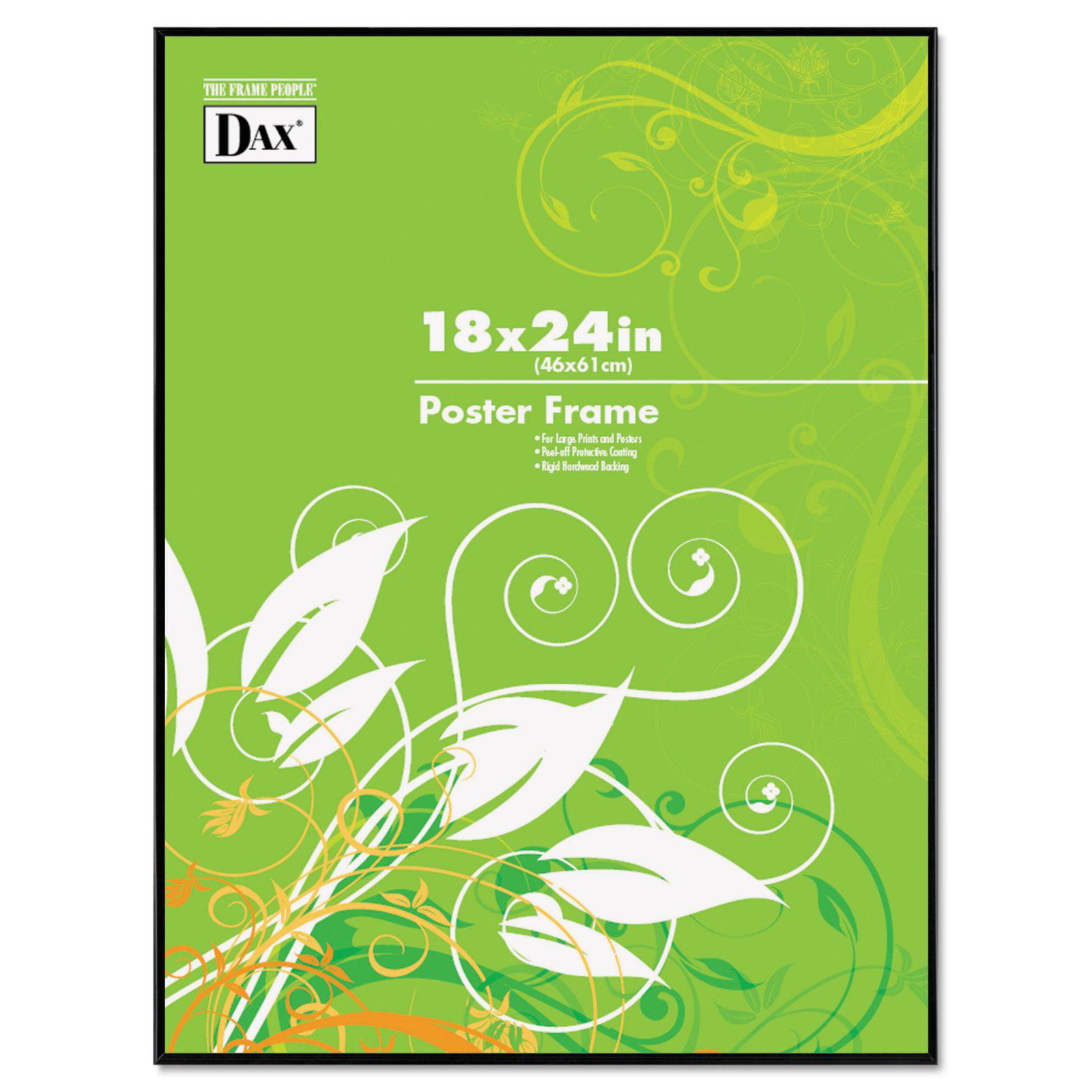 DAX Coloredge Poster Frame, Clear Plastic Window, 18 x 24, Black ...