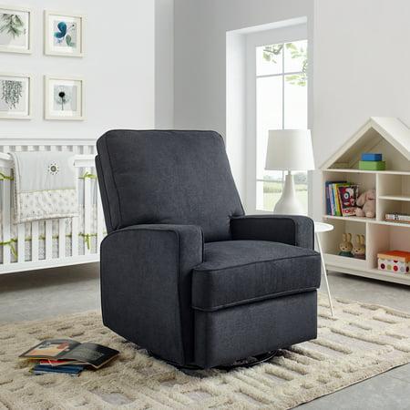 Modern Essentials Nanette Upholstered Glider Swivel Rocker Chair, Multiple Colors Swivel Rocker Frame Color