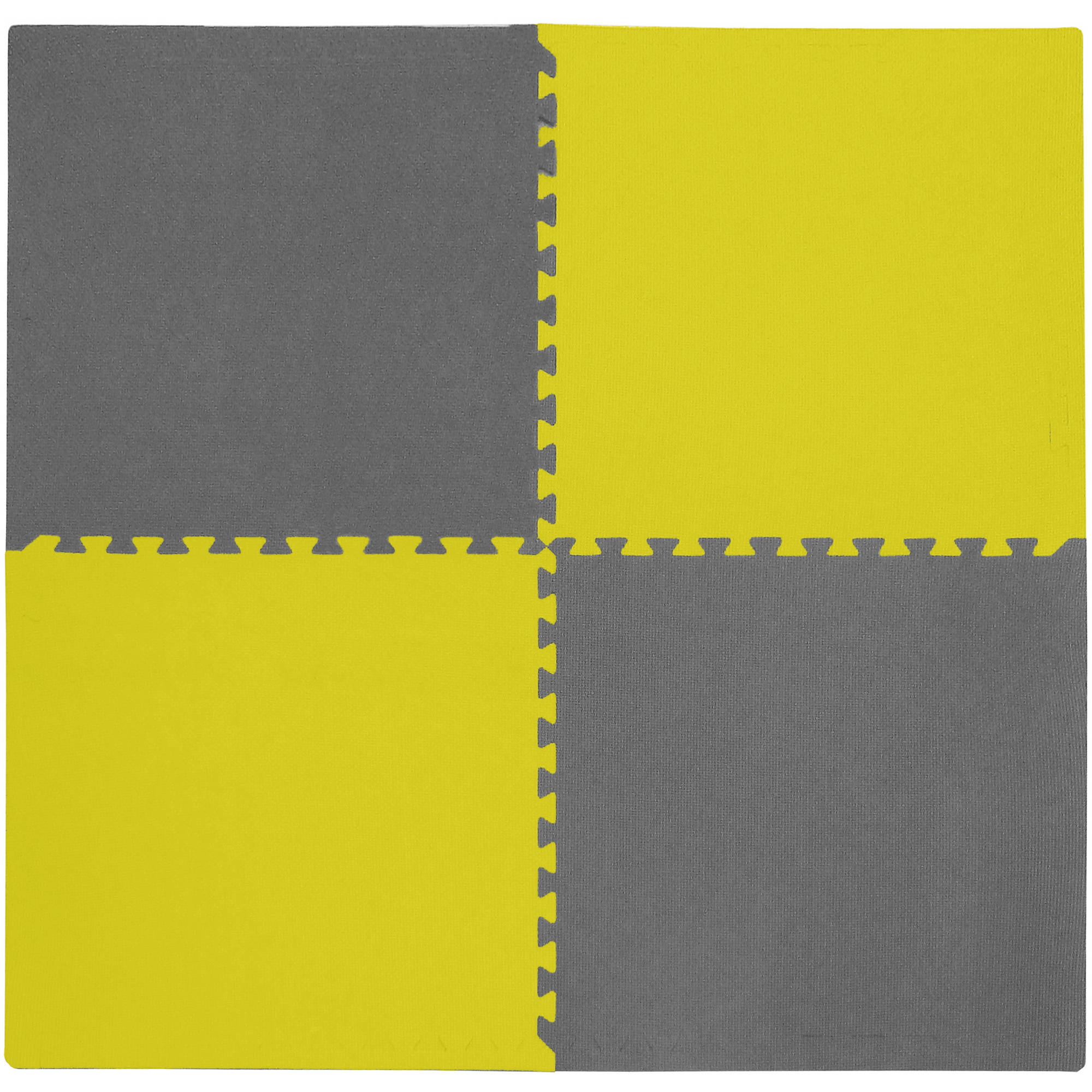 "Tadpoles 24"" Playmat Set, 4pc, Yellow/Grey"
