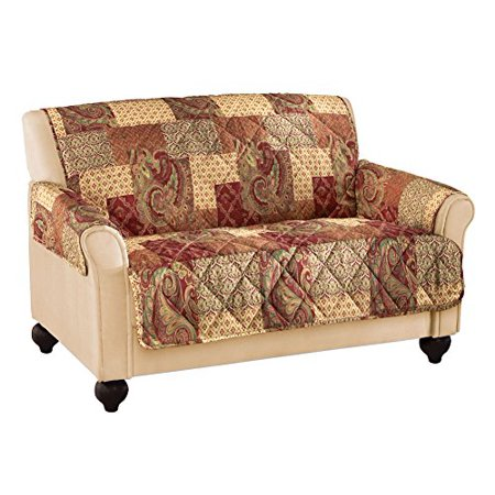 Collections Etc Paisley Floral Patchwork Furniture Cover ()