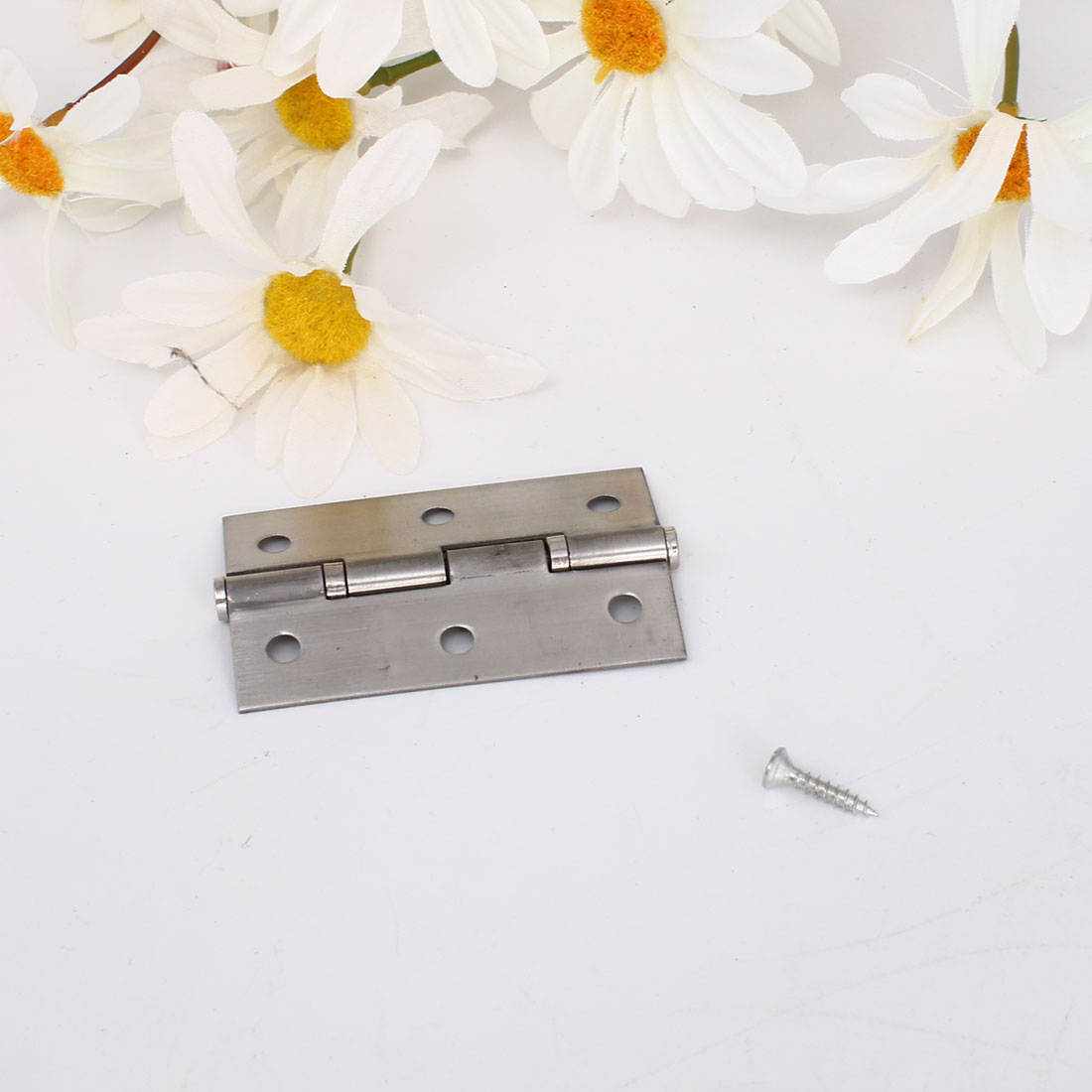Hinge Silver Tone Door Cabinet Hinges Fittings Anechoic Foldable Hardware