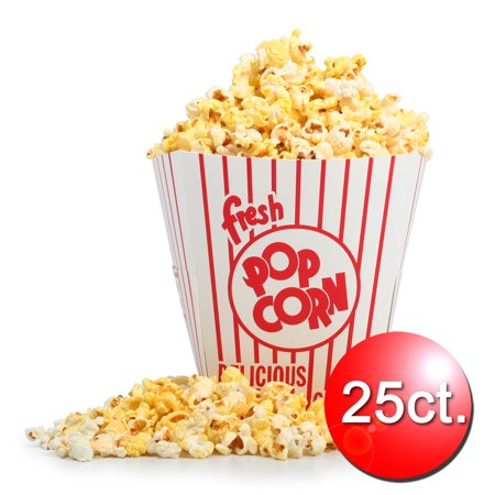 25 Movie Theater Popcorn Buckets 85 oz Open Top by Great Northern Popcorn](Plastic Popcorn Buckets)