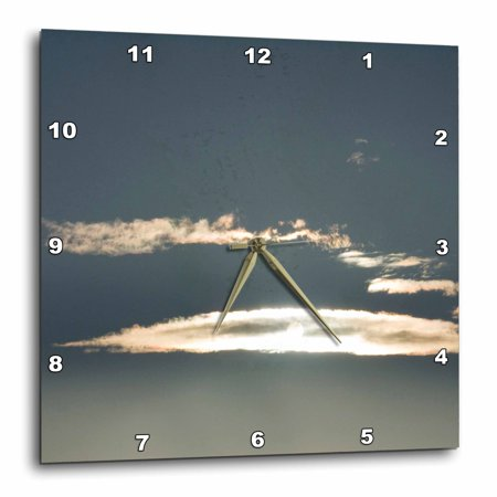 3dRose cloud illuminated by the sun - Wall Clock, 10 by 10-inch