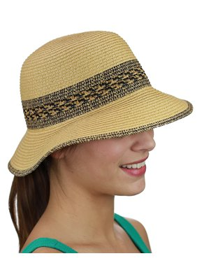 5b2c90cb Product Image C.C Women's Multicolored Weaved Band and Brim Floppy Summer Sun  Hat, Toast
