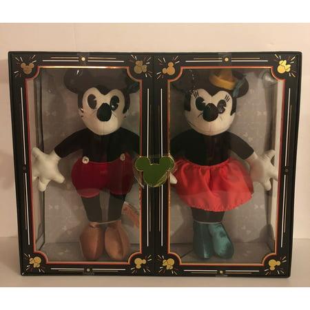 Disney Parks 90th Anniversary Mickey and Minnie Plush Set Limited New with (Minnie Mickey Disney)