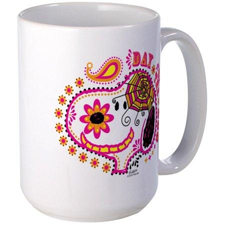 CafePress - Day Of The Dog Snoopy Face Large Mug - 15 oz Ceramic Large Mug ()