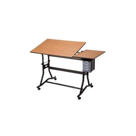 Alvin Onyx Drafting Table (Alvin Split Top Solid Oak White Top Drafting Table )