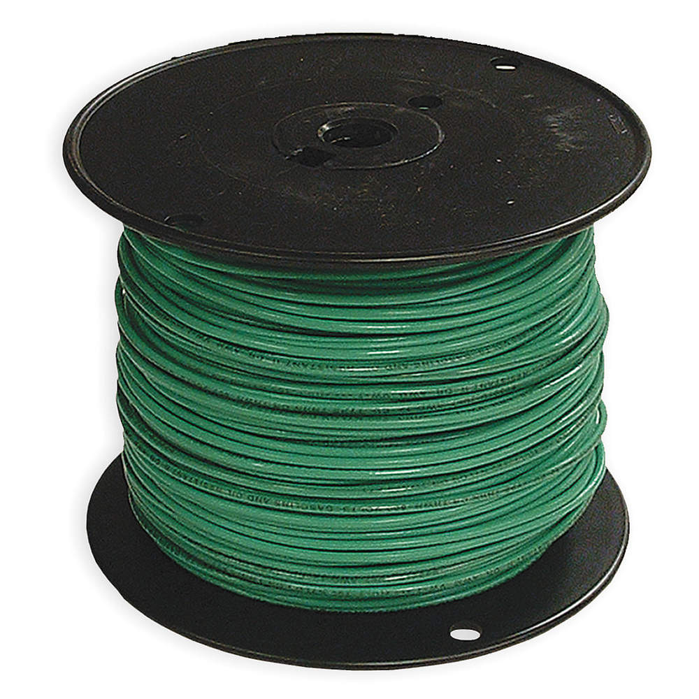 SOUTHWIRE COMPANY Solid THHN Building Wire,  Green,  500 ft. 12 AWG 11591501