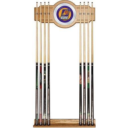 Phoenix Suns NBA Billiard Cue Rack with Mirror by
