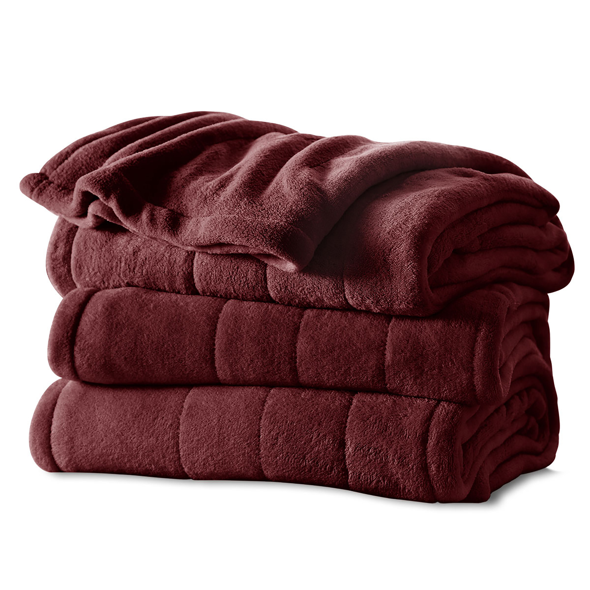Sunbeam Electric Heated Microplush Channeled Blanket