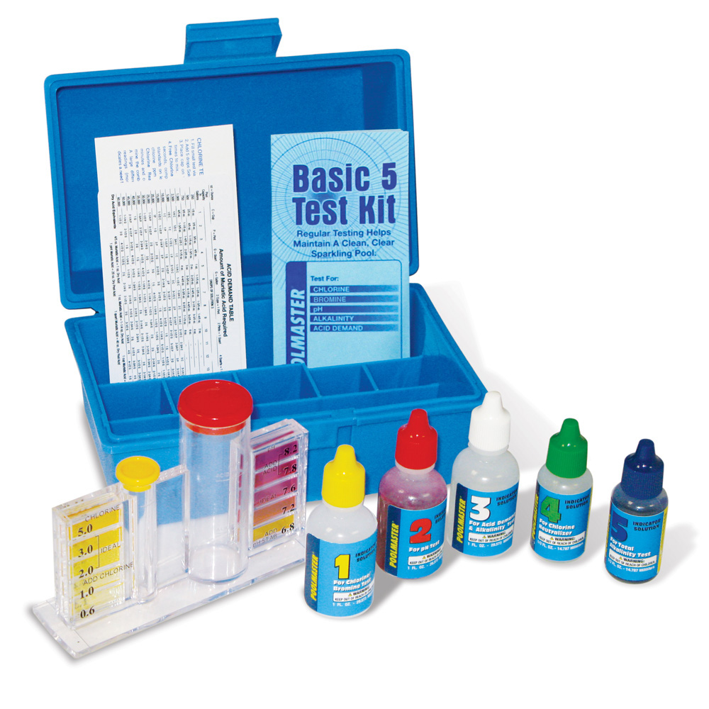 Poolmaster Basic 5-way Deluxe Test Kit with Case