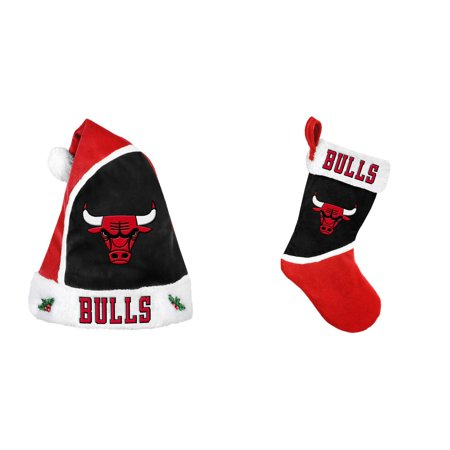 Nba   Christmas Santa Hat And Christmas Stocking 2 Pack