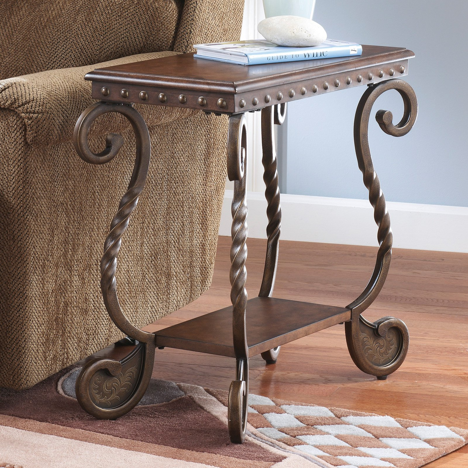 Signature Design by Ashley Rafferty Chair Side End Table, Dark Brown