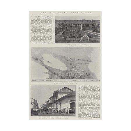 The Nicaragua Ship Canal Print Wall Art