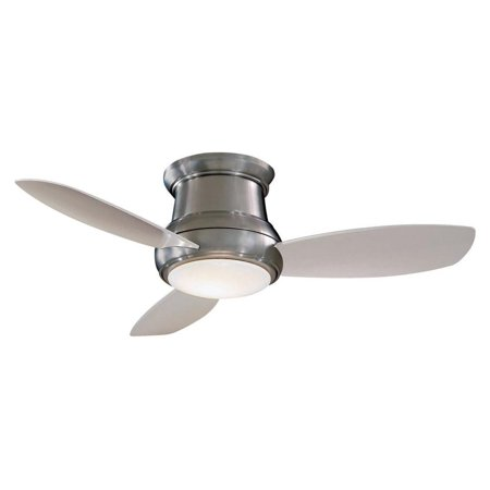 MINKA AIRE F519-BN FLUSH MOUNT CEILING FAN BRUSHED NICKEL