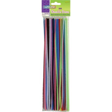 Creativity Street Chenille Stems, Regular, Assorted Colors 100/Pkg.