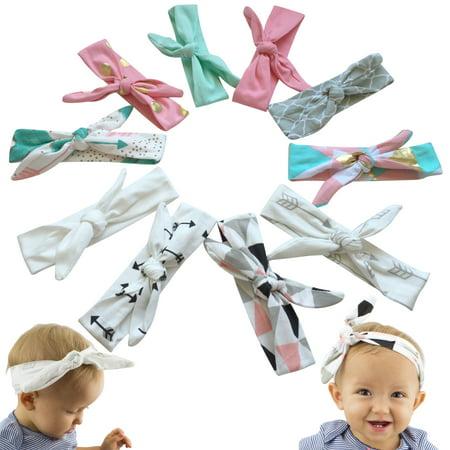 56824e928a20f JLIKA Baby Girl Headbands Cotton Knotted Headband Headwrap Modern Turban  Fashion Head Band Wrap Rabbit Ear
