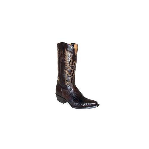 Ferrini 8116109100B Ladies Teju Lizard V Toe Boots, Chocolate 10B by