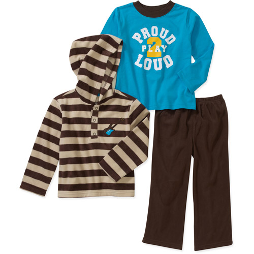 Child of Mine by Carters Baby Boys' 3 Piece Striped, Blue Tops and Pant Set