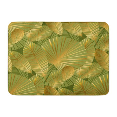 Rainforest Tropical Rug (KDAGR Abstract Tropical Foliage Blue Checkered Rain Forest Endless Repeatable Doormat Floor Rug Bath Mat 23.6x15.7 inch)
