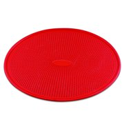 """DoughEZ Pizza Pan for Baking, 13"""", Perforated Silicone, Non-Stick, Metal Reinforced Rimmed, Oven Safe to 480°, BPA Free"""