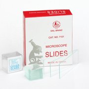 AmScope 72 Pre-Cleaned Blank Microscope Slides and 100 Square Cover Glass New