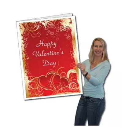 2'x3' Giant Valentine's Day Card W/Envelope ()