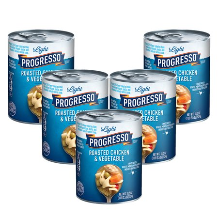 - (5 Pack) Progresso Light Roasted Chicken and Vegetable Soup, 18.5 oz
