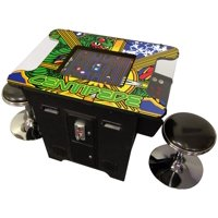 412  Games in 1 Cocktail Arcade Machine Includes 2 Chrome Stools 5 Year Warranty