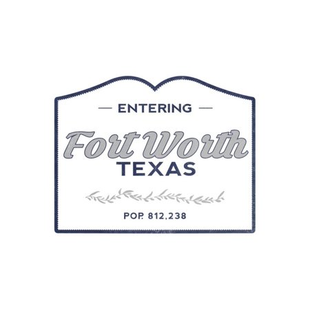 Fort Worth, Texas - Now Entering (Blue) Print Wall Art By Lantern Press - Halloween Festivals Fort Worth