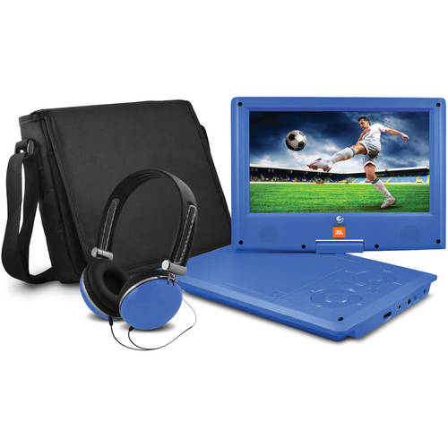 "JBL 9"" Portable DVD Player with Matching Headphones and Bag"