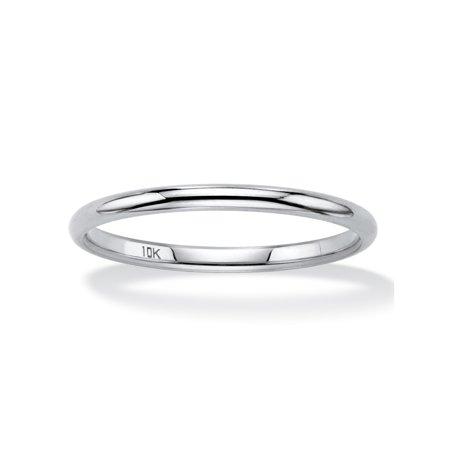 Polished Wedding Ring Band In 10k White Gold 2mm