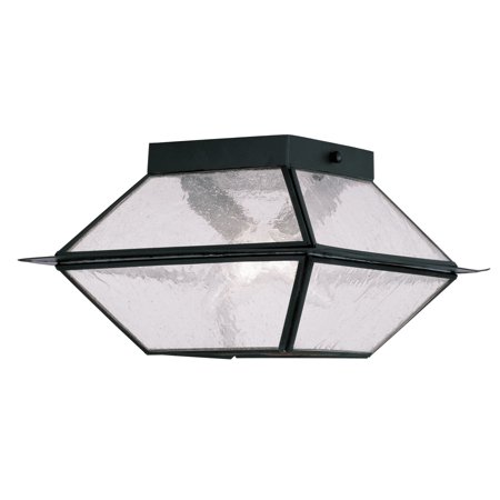 - Livex Lighting 2175 Mansfield 2 Light Semi-Flush Outdoor Ceiling Fixture